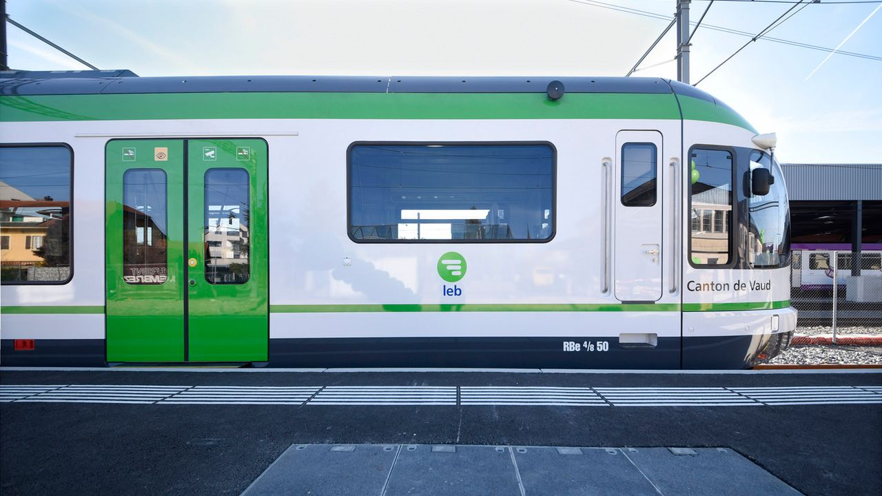 Le LEB (Lausanne-Echallens-Bercher) fait partie du top 3 des compagnies romandes en matière de qualité. [Christian Brun - Keystone]