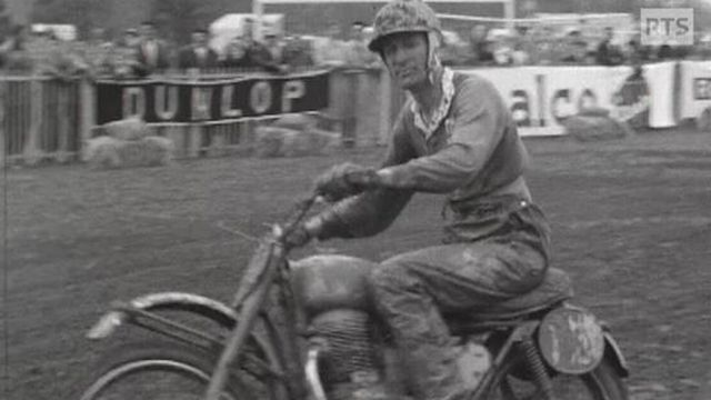 Brian Stonebridge lors de l'étape du Championnat d'Europe des 250 cc à Genève. [RTS]