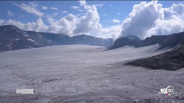 Le glacier de la Plaine Morte se réchauffe et change de visage au fil des saisons [RTS]