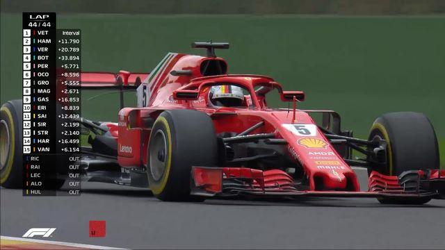 GP de Belgique: Vettel (GER) s'impose devant Halmilton (GBR) et Verstappen (NED) [RTS]