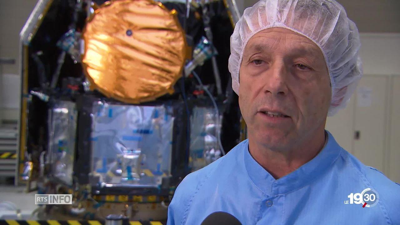 Le satellite Cheops de Ruag Space, développé par l'université de Berne devrait faire avancer la recherche sur les exoplanètes. [RTS]