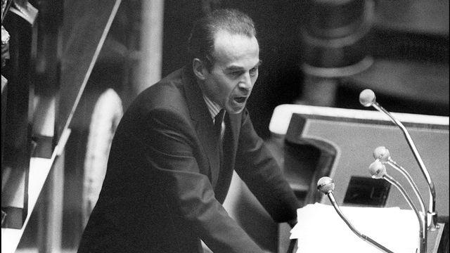 Le discours de Robert Badinter à l'assemblée nationale, le 09 octobre 1981. [AFP - Dominique Faget]