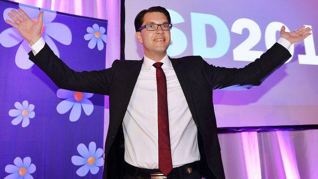 C'est un nouveau triomphe pour le président des Démocrates de Suède, Jimmie Akesson. [Anders Wiklund - TT News Agency/AFP]