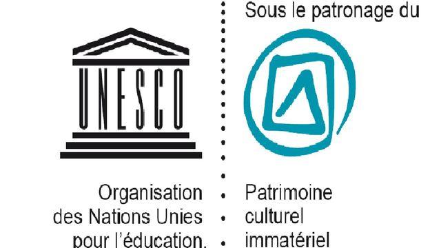 Le logo du patrimoine culturel immatériel de l'Unesco. [Unesco]