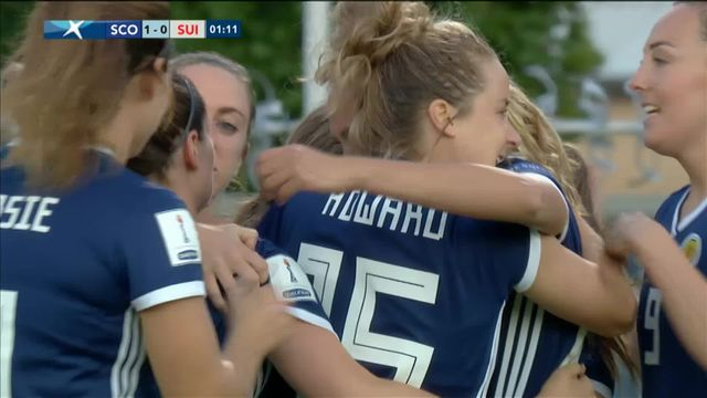 Dames, qualifications Coupe du Monde, Ecosse -Suisse (2-1): les buts du match [RTS]