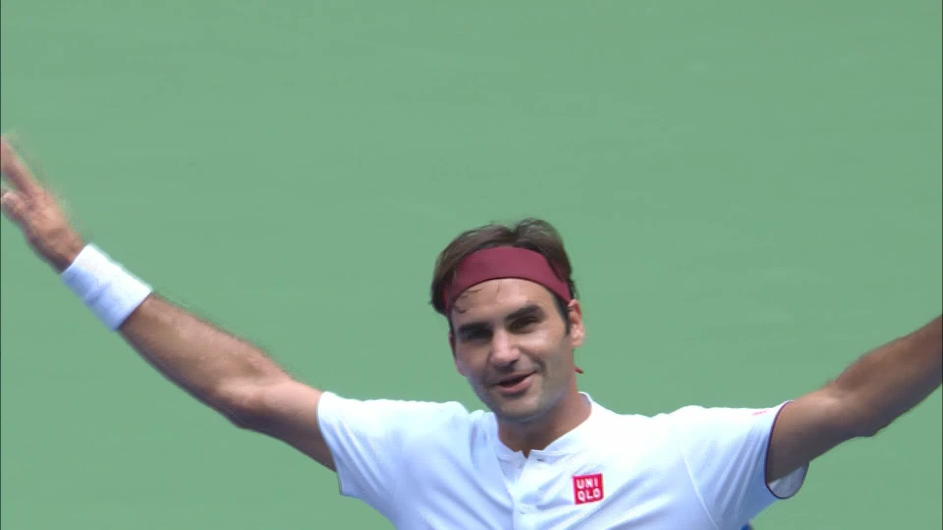 Le point dingue de Roger Federer pour contourner le filet