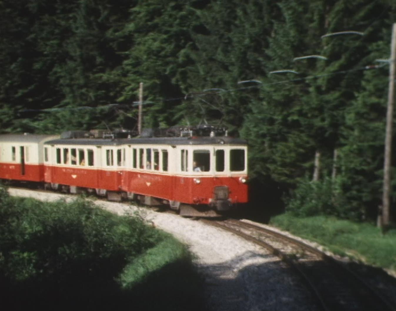 Le petit train Yverdon - Ste-Croix