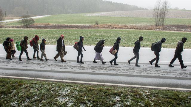 Le dossier sur la migration de RTS Découverte. [Armin Weigel - Keystone - DPA ]