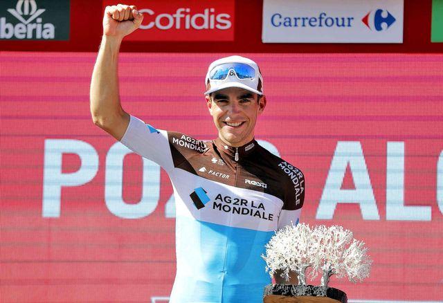 Gallopin retrouve le sourire, lui qui avait été contraint à l'abandon sur le Tour de France. [Manuel Bruque - Keystone]