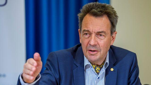 Peter Maurer regrette la décision du Conseil fédéral d'autoriser les exportations d'armes vers des pays en conflit interne. [Martial Trezzini - Keystone]