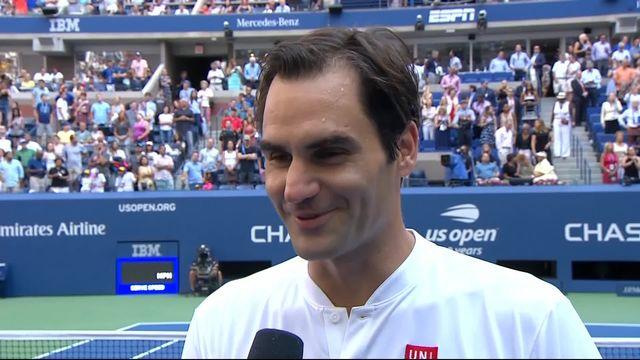3e tour messieurs, N.Kyrgios (AUS) - R.Federer (SUI) (4-6, 1-6, 5-7): l'interview de Federer à la fin du match [RTS]