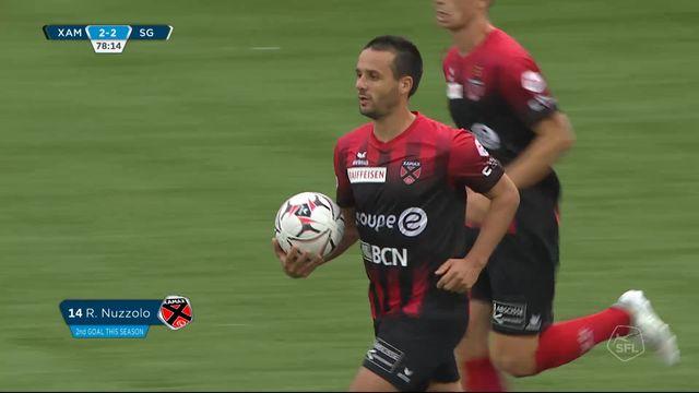 6e journée, Xamax - St-Gall 2-2: 79e Raphael Nuzzolo sur penalty [RTS]