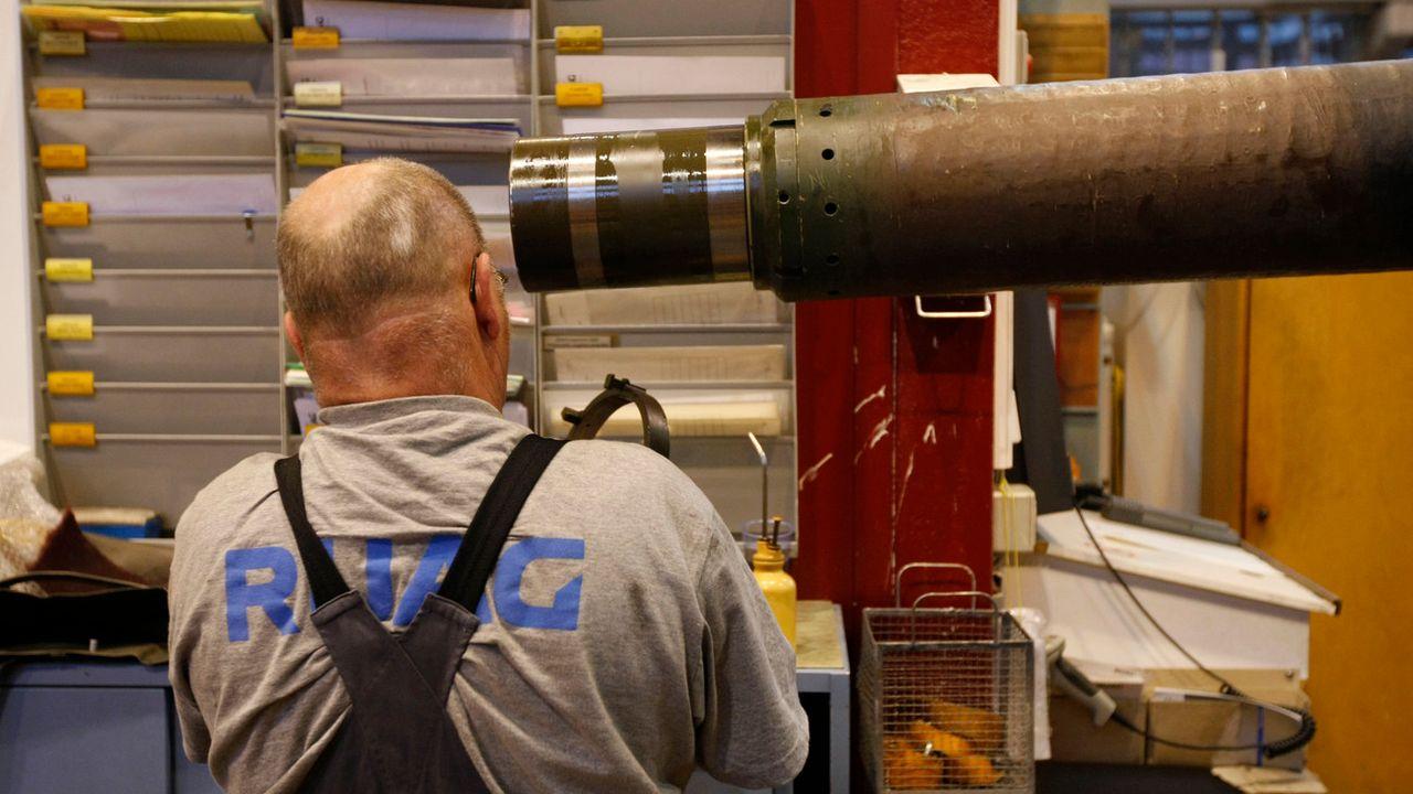 L'entreprise suisse d'armement Ruag voulait exporter des lance-mines au Qatar. [Moritz Hager - EQ Images/Keystone]