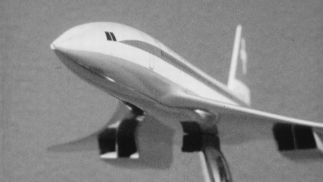 Projet d'un avion supersonique: le Concorde en 1965. [RTS]