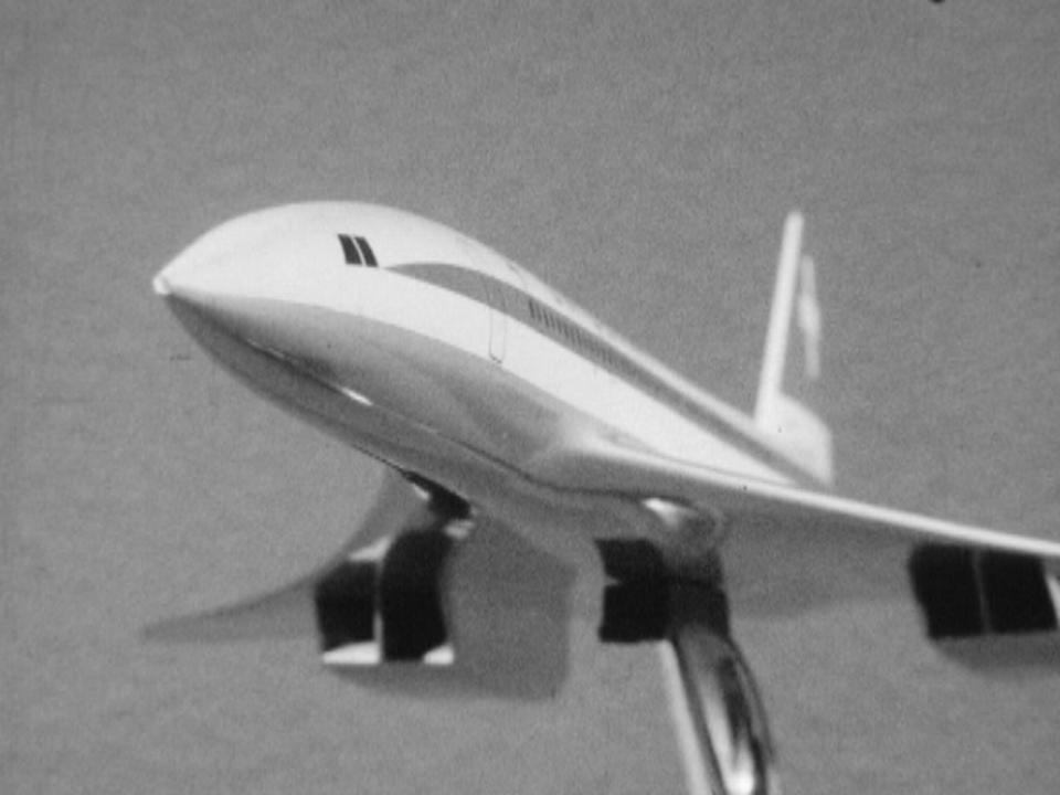 Projet d'un avion supersonique: le Concorde en 1965. [RTS]