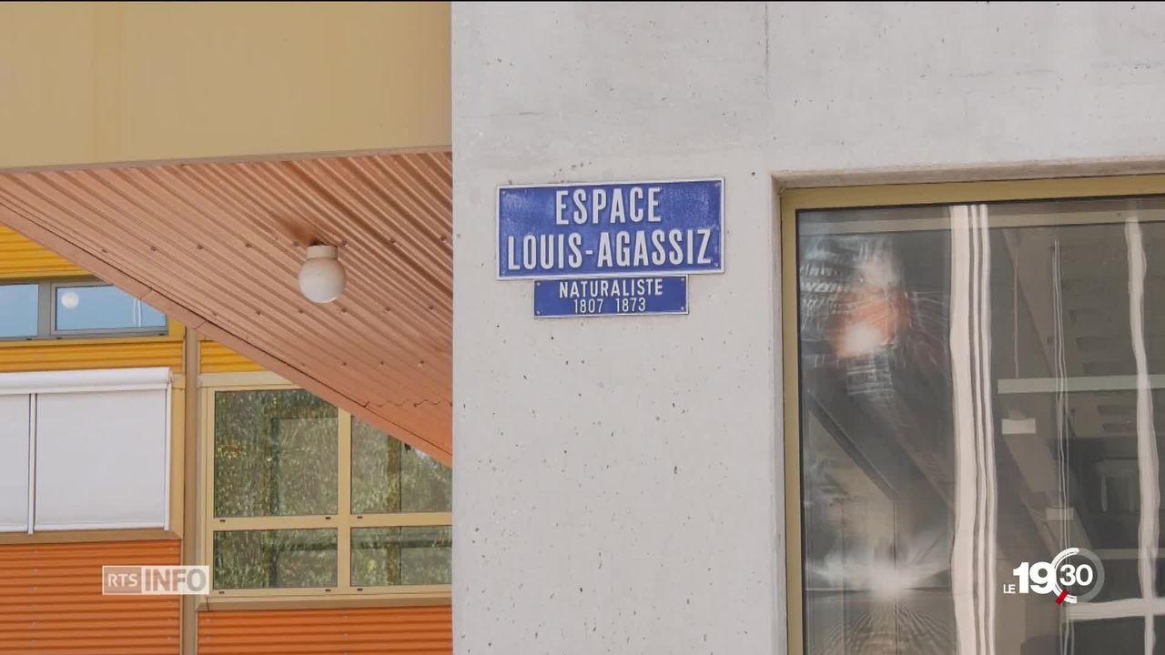 Louis-Agassiz persona non grata à Neuchâtel pour ses théories racistes. L'espace qui porte son nom est rebaptisé Tilo Frey. [RTS]
