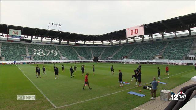 Après les polémiques, l'équipe de Suisse de football est prête à débuter sa Ligue des nations. [RTS]