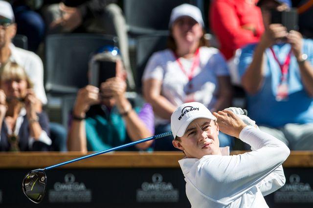 Matthew Fitzpatrick a pris les devants lors du 3e tour de l'European Masters. [Alexandra Wey - Keystone]