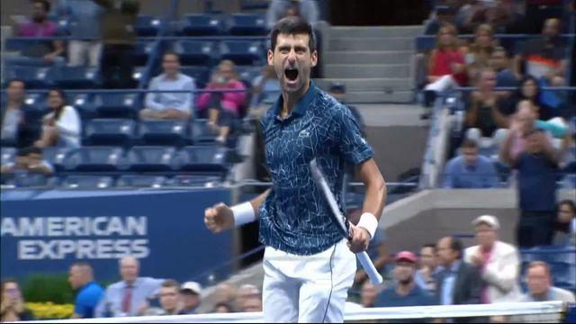 """1-2 finale messieurs, N.Djokovic (SRB) – K.Nishikori (JPN) (6-3, 6-4, 6-2): """"Djoko"""" rejoint Del Potro en finale [RTS]"""