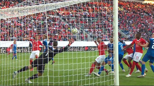 Gr.2, Suisse – Islande (3-0): 53e, Bjarnason marque contre son camp sur un coup franc tiré par Shaqiri [RTS]