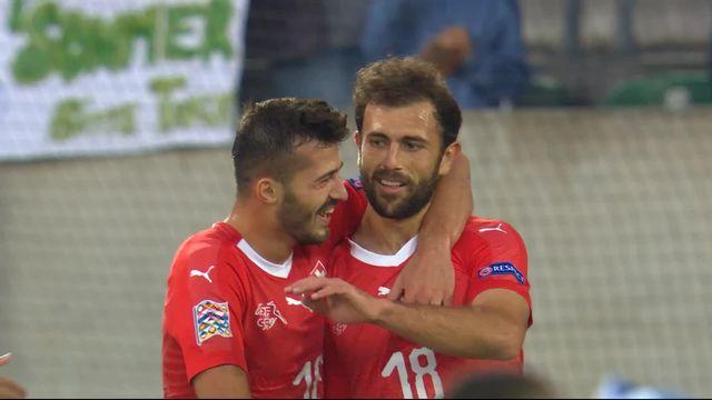 Gr.2, Suisse – Islande (6-0): 83e, Mehmedi inscrit le 6e but suisse bien servi par Zakaria [RTS]