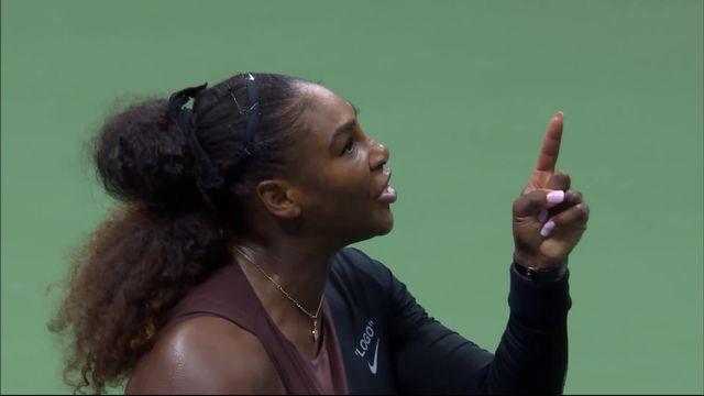 Finale dames, S.Williams (USA) – N.Osaka (JPN): l'accrochage entre Serena et l'arbitre [RTS]