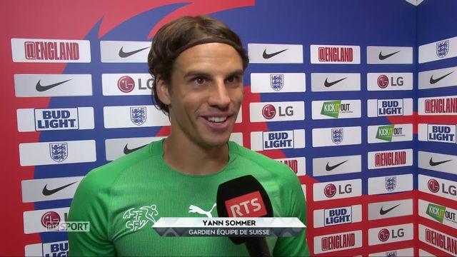 Angleterre - Suisse (1-0): Yann Sommer à l'interview à la fin du match [RTS]