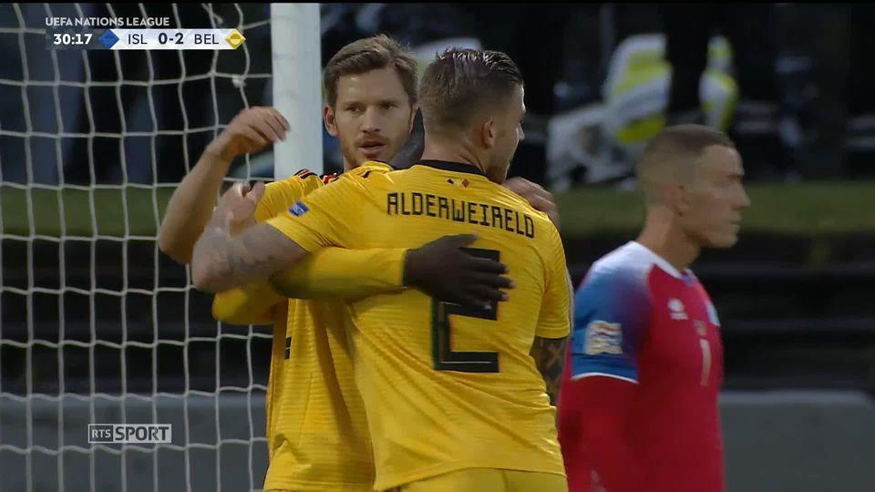 Gr.2, Islande - Belgique (0-3): le résumé du match [RTS]