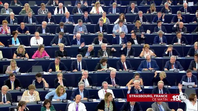 C'est une première pour le Parlement européen: demande d'ouverture d'une procédure de sanction contre la Hongrie. [RTS]