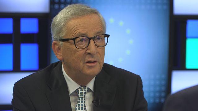 Le président de la Commission européenne Jean-Claude Juncker, le 13 septembre 2018. [RTS]