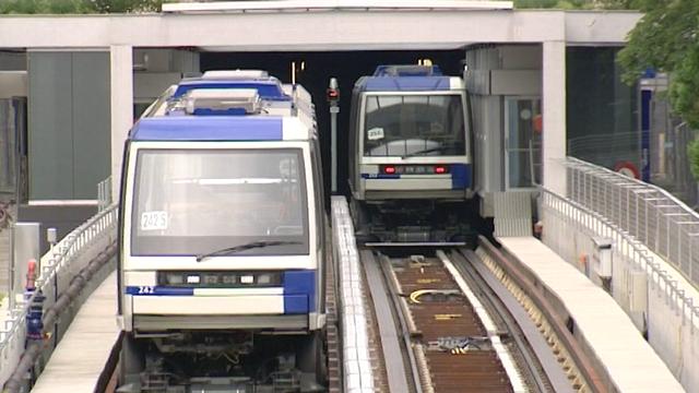 Le M2, un métro automatisé. [RTS]