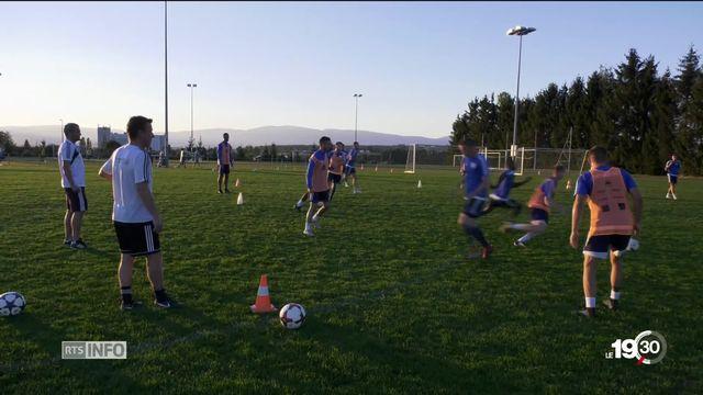 Coupe suisse, le FC Echallens se prépare à affronter le FC Bâle. Les enjeux d'une rencontre. [RTS]