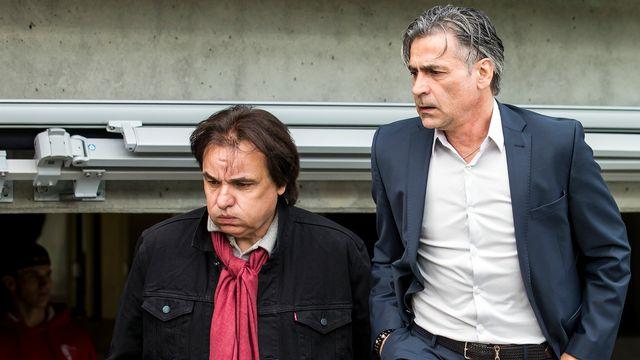 Le président du FC Sion Christian Constantin a mis en congé l'entraîneur Maurizio Jacobacci. [Alexandra Wey - Keystone]