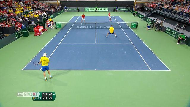 Tennis, Coupe Davis: retour sur le match Suisse - Suède [RTS]