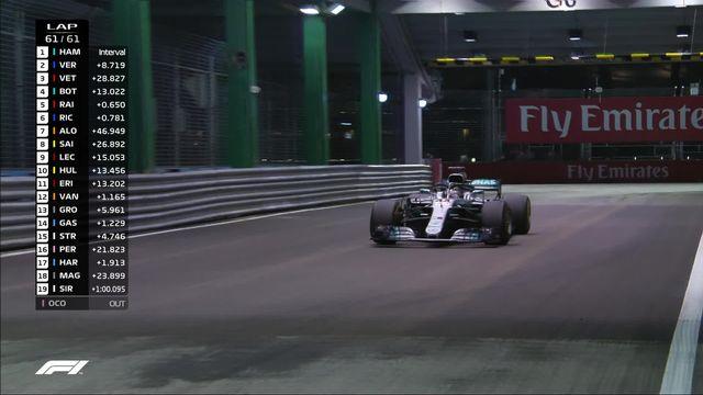 GP de Singapour, course: Hamilton (GBR) remporte le Grand-Prix devant Verstappen (NED) 2e et Vettel (GER) 3e [RTS]