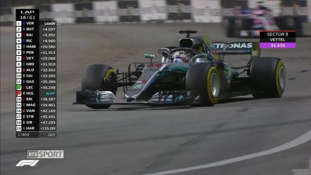 Formule 1, GP de Singapour: Lewis Hamilton s'impose [RTS]