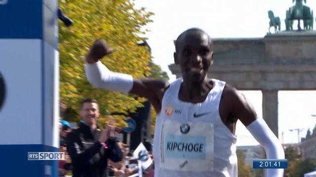 Athlétisme, Marathon de Berlin: le Kenyan Eliud Kipchoge pulvérise l'ancien record [RTS]