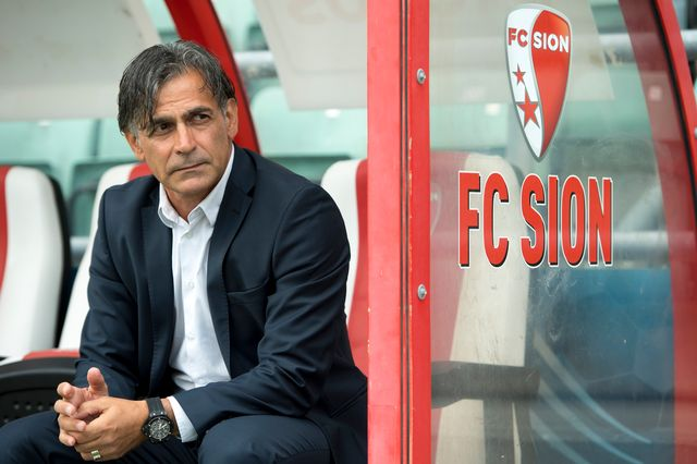 L'entraineur du FC Sion Maurizio Jacobacci a été congédié par Christian Constantin. [Laurent Gillieron - Keystone]