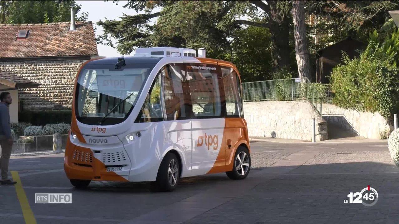 Des navettes électriques et autonomes à Genève [RTS]