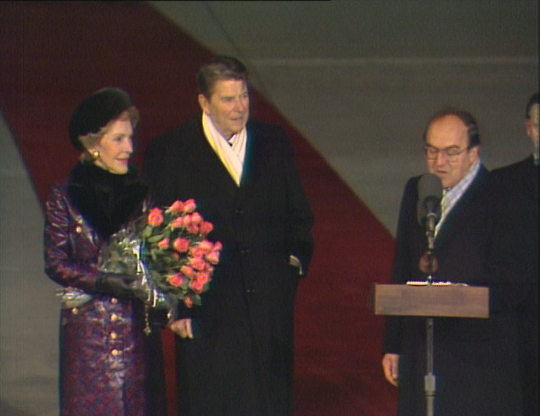 L'arrivée de Ronald Reagan à Cointrin