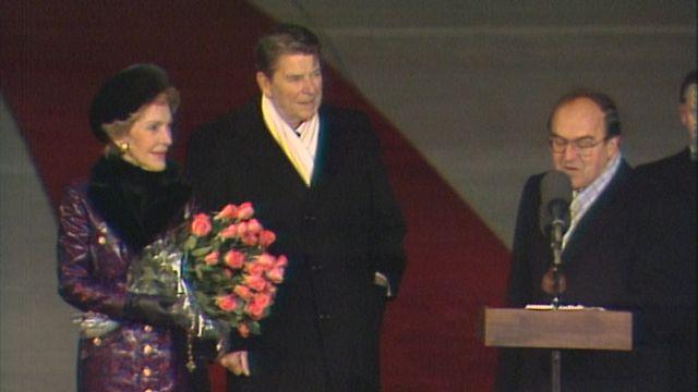 L'arrivée de Ronald Reagan à Cointrin [RTS]