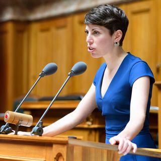 Lisa Mazzone, conseillère nationale Les Verts GE, coprésidente de l'initiative Pour plus de transparence dans le financement de la vie politique (initiative sur la transparence). [Anthony Anex - Keystone]