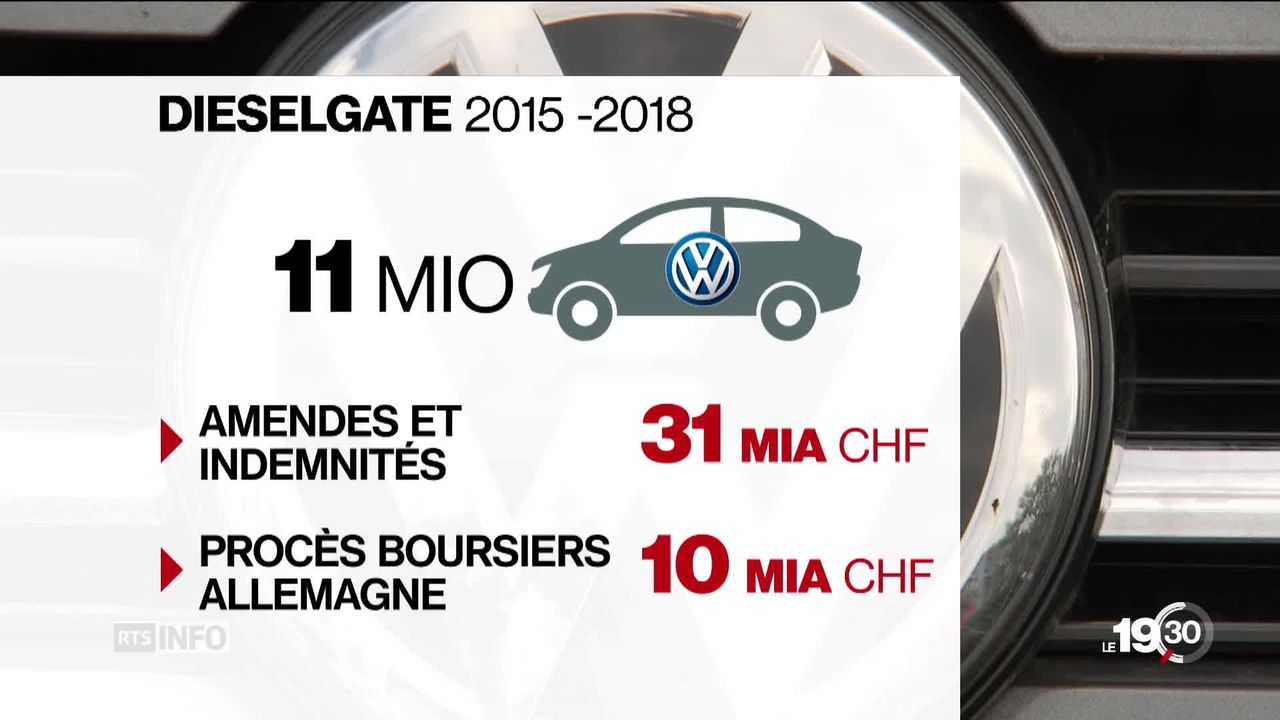 Trois ans après le Dieselgate se pose la question de l'indemnisation des clients en Europe et en Suisse [RTS]