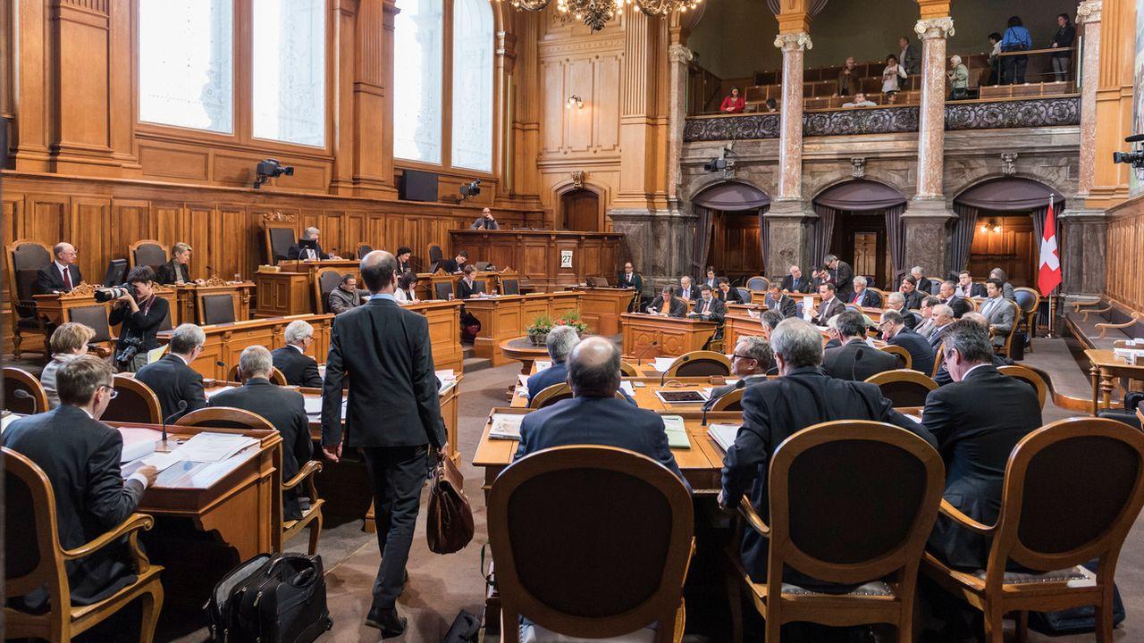 Le Conseil des Etats le 27 février 2017 à Berne. [Alessandro della Valle - Keystone]