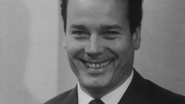 Le comédien français Jean Piat en 1965. [RTS]