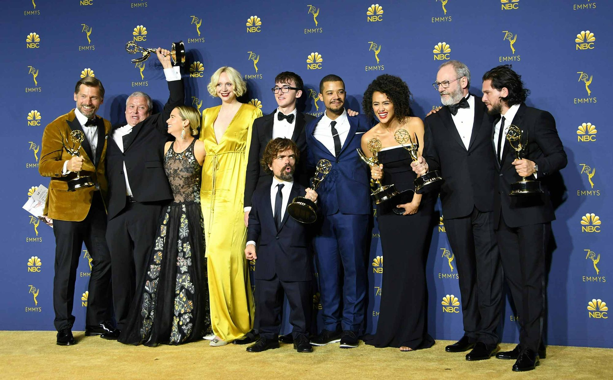 "L'équipe de ""Game of Thrones"" lors des Emmy Awards 2018."