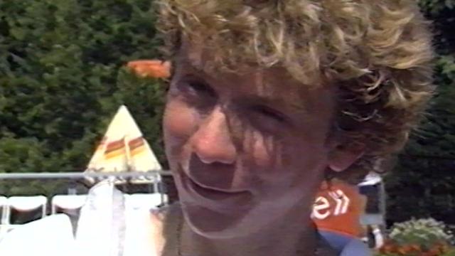 Le tennisman Marc Rosset en 1984. [RTS]