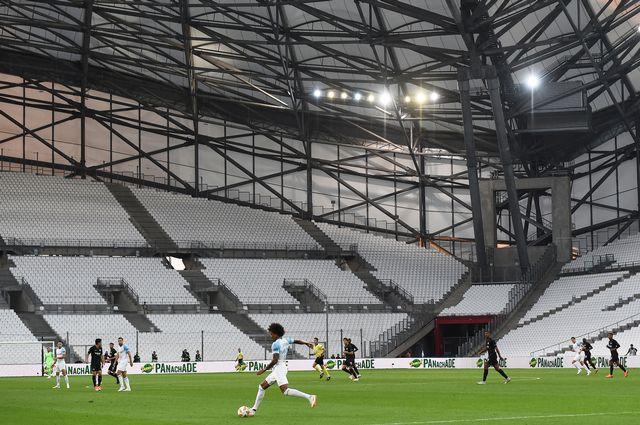 L'atmosphère était particulière à Marseille dans un stade vide. [Boris Horvat - AFP]