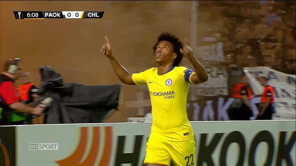 PAOK FC - Chelsea (0-1): le but du match [RTS]