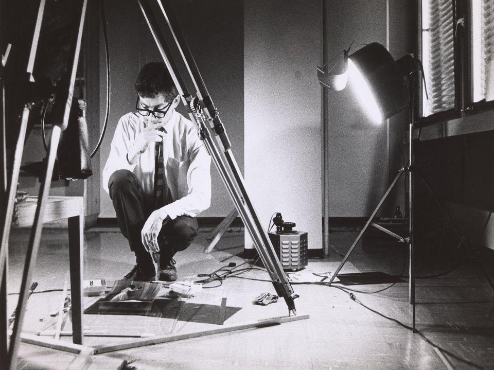 Portrait de Nicolas Bouvier datant de 1967. [Eliane Bouvier - http://institutions.ville-geneve.ch]